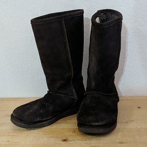 XHILARATION Dark Brown Boots Sherpa Lined